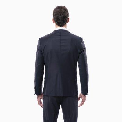 Pánsky oblek, 88% vlna, modrý