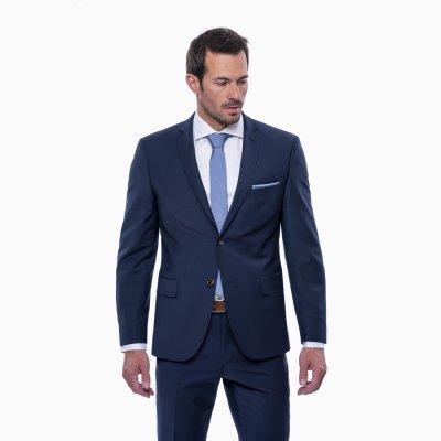 Pánsky oblek s vestou, modrý