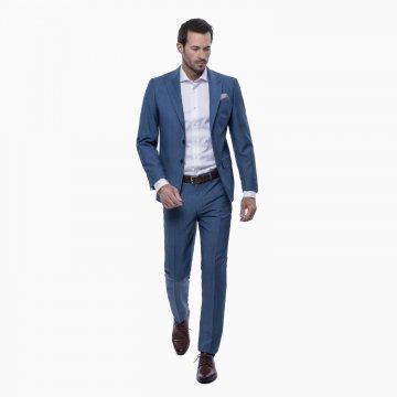 Pánsky oblek, 100% vlna, tyrkysový