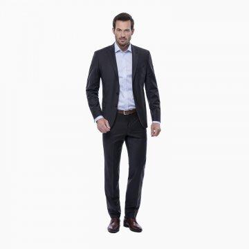 Pánsky oblek, 85% vlna, hnedý