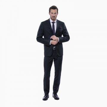 Pánsky oblek, 88% vlna, čierny