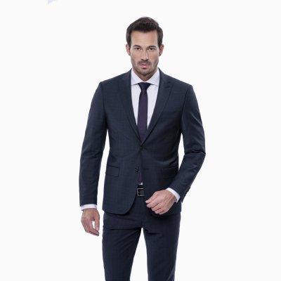 Pánsky oblek s vestou, antracitový