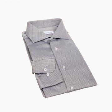 Košile p. DR sivá s drobným printem T6800003421