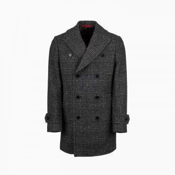 Pánsky károvaný kabát