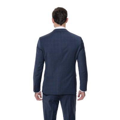 Pánsky oblek s vestou, károvaný