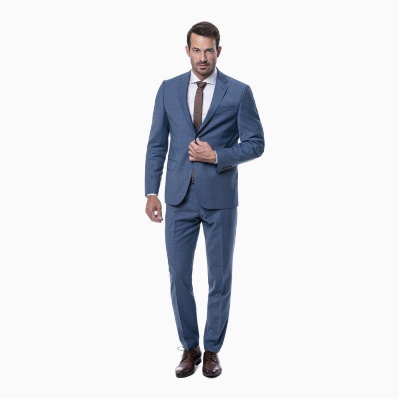 Pánský oblek, riflovo modry