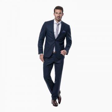 Pánský oblek, 88% vlna, modrý