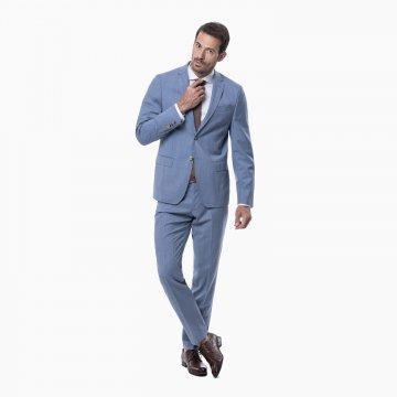 Pánsky oblek, 100% vlna, svetlomodrý