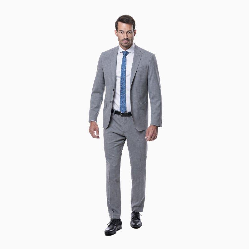 Pánsky oblek, 98% vlna, sivý