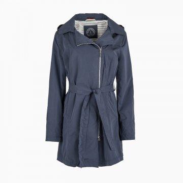 Dámsky jarný plášť s kapucňou