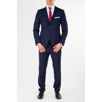 Pánsky oblek, 98% vlna, modrý