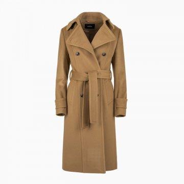 Dámsky kabát, dvojradový