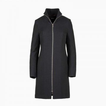 Dámsky vlnený kabát na zips