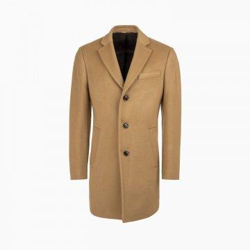 Pánsky vlnený kabát s prímesou kašmíru