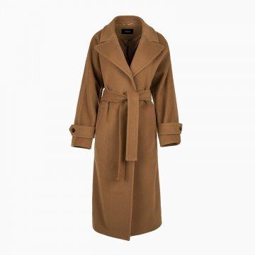 Dámsky vlnený kabát, oversized