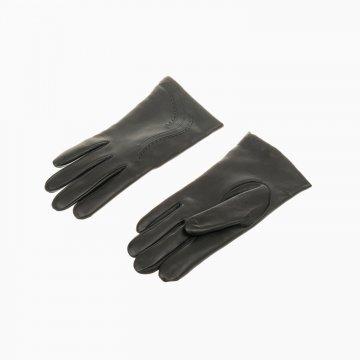 Dámske kožené rukavice, čierne