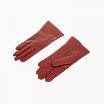 Dámske kožené rukavice, červené