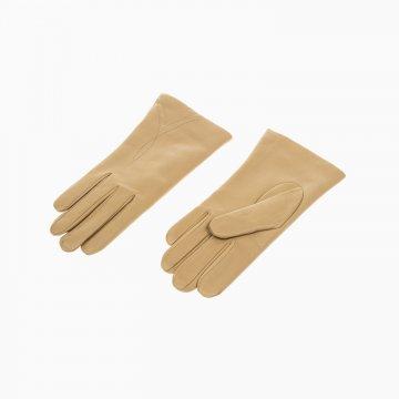 Dámske kožené rukavice, camel