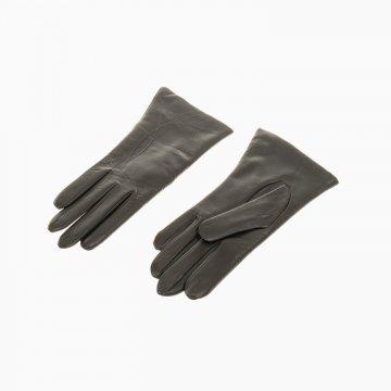 Dámske kožené rukavice, tmavohnedé