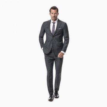 Pánsky oblek, 100% vlna, šedý