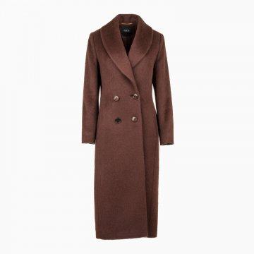 Dámsky vlnený kabát s prímesou mohéru